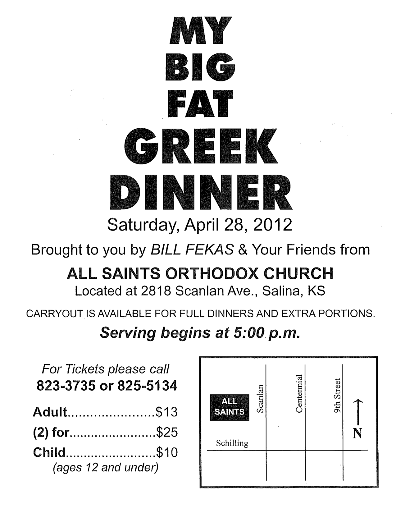 Flier for All Saints Fundraiser