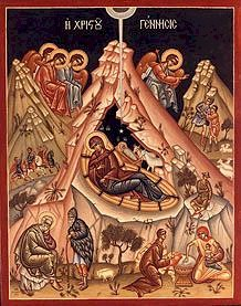 Icon of the Nativity of Our Lord, God and Savior Jesus Christ